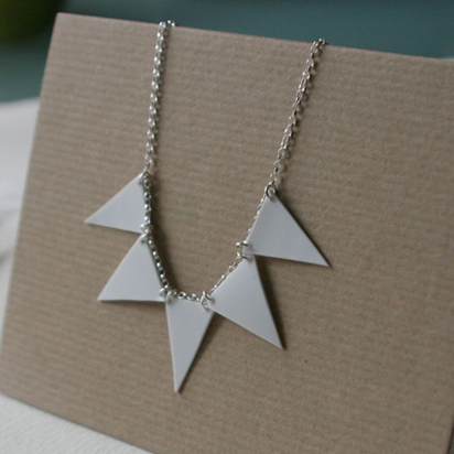 recycled bunting necklace